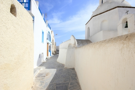 Street on the island of Santorini in Greece Stock Photo - 13680317