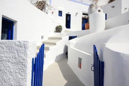 Street on the island of Santorini in Greece Stock Photo - 13680216