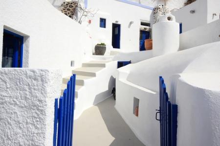 Street on the island of Santorini in Greece Stock Photo - 13680216