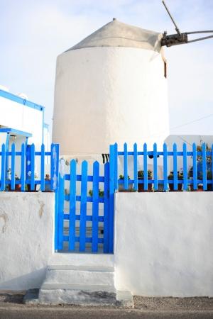 Windmill on Santorini island, Greece Stock Photo - 13680163