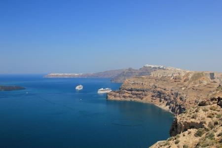 Ver en la isla de Santorini en Grecia Foto de archivo - 13767303