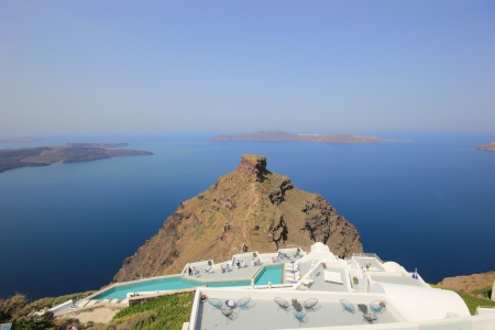 Santorini view - Greece (Firostefani) - vacation background Stock Photo - 13767348