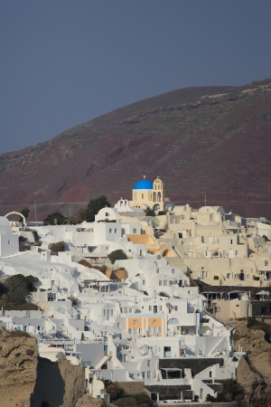 Classical Greek architecture of the streets in the Cyclades Greece photo