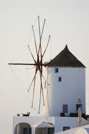 Windmill on Santorini island, Greece photo