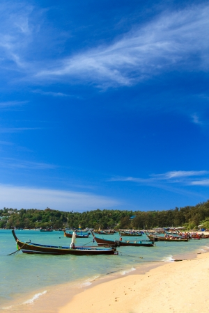 long tailed boat: Long tailed boat in Phuket Thailand