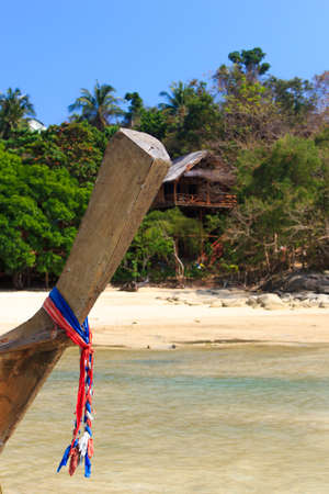long tailed boat: Beautiful bay of Koh Phi Phi island with long tailed boat Thailand