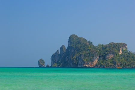 Beautiful bay of Koh Phi Phi island at day time, Thailand photo