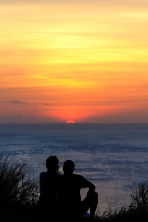 Beautiful sunset in Rawai Phuket island Thailand  photo