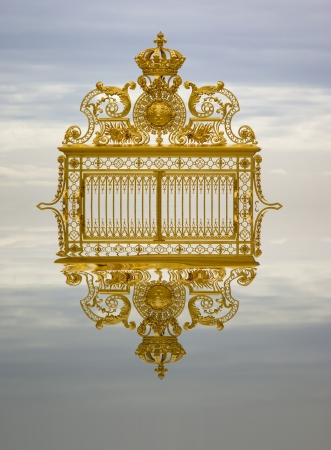 and gate: Golden gate Versailles France Stock Photo
