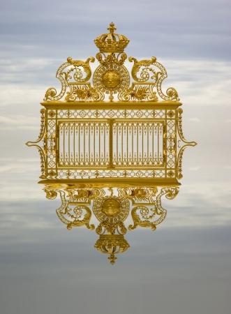 Golden gate Versailles Frankreich Standard-Bild
