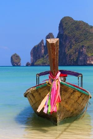 Long tailed boat Ruea Hang Yao in Phi Phi island Thailand photo