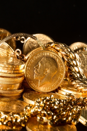 George V gold coins - Selective focus photo