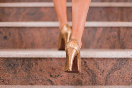 実業家撮影を踏むより高いレベルへの階段