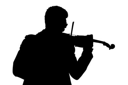 fiddlestick: Silhouette of a violonist