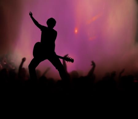 guitarist at rock concert Banque d'images