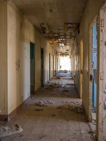 Apocalypse abandoned base Military barracks