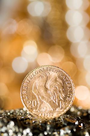 tresure: Twenty French Francs gold coins