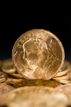 tresure: Twenty Swiss Francs gold coins