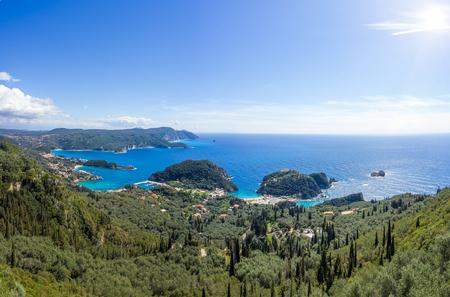 The bay of Paleokastritsa in Corfu Greece photo