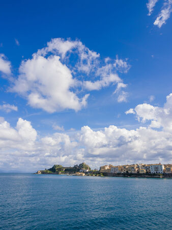 View of the old town of Corfu in Greece photo