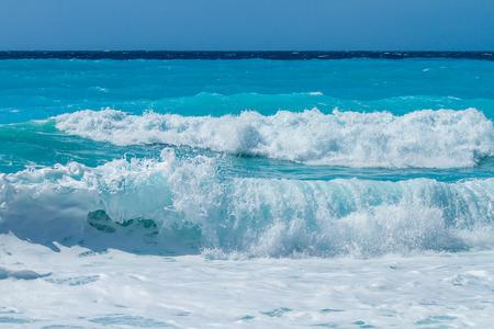 wild beach of the island of Lefkada in Greece
