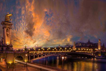 Bridge of the Alexandre III, Paris France Stock Photo