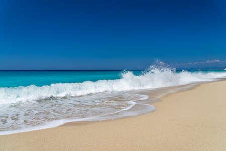 Pefkoulia beach in lefkada island greece