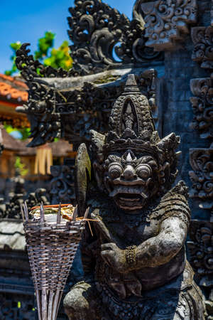 Statue at the templ in Bali Indonesia