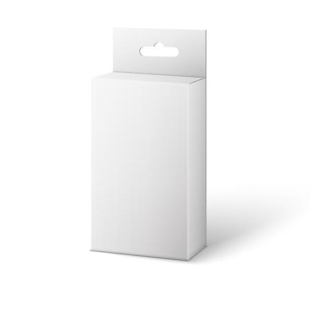 White Product Package Box Illustration Isolated On White Background.