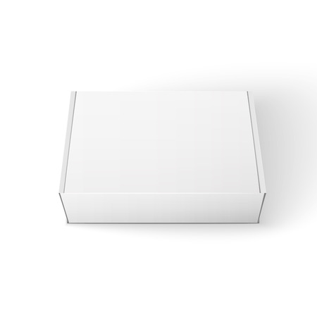 White Product Package Box Illustration Isolated On White Background. Vector