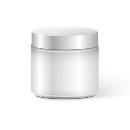 Blank Cosmetic Container for Cream, Powder or Gel 矢量图像