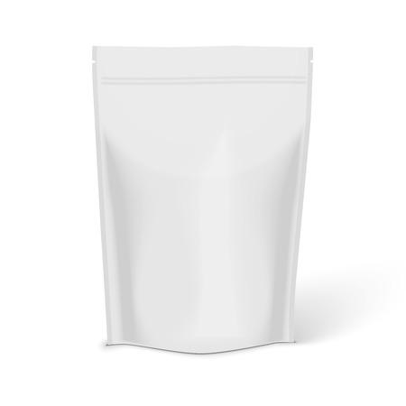 White Blank Foil Food Illustration Isolated On White Background.