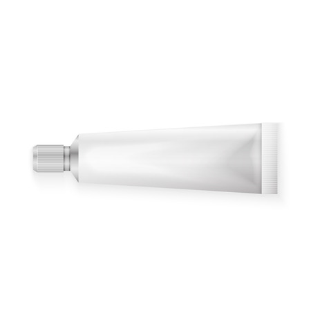 toothpaste tube: Tube Of Toothpaste, Cream Or Gel Grayscale Silver White Clean.