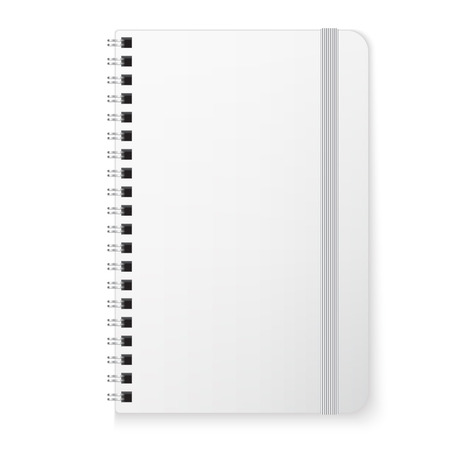 elastic band: Blank copybook template with elastic band