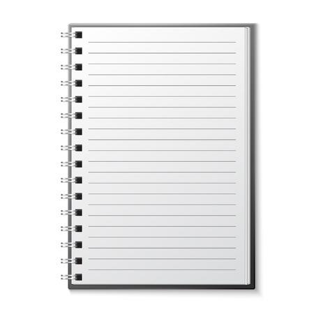 moleskin: Blank copybook template Illustration