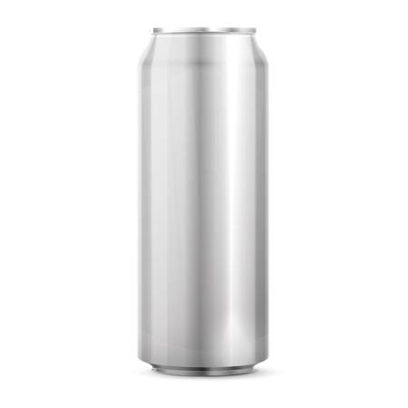 Metaal aluminium drank Kan Stock Illustratie