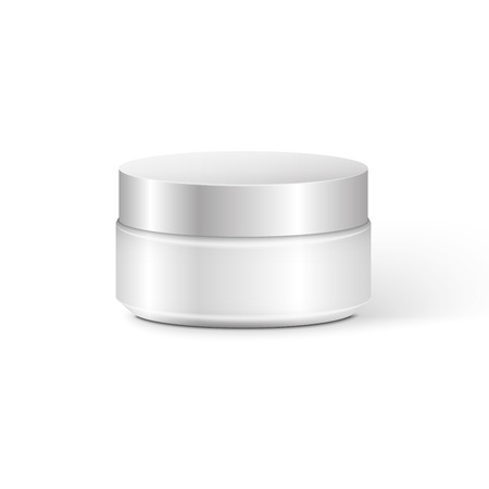 Blank Cosmetic Container for Cream, Powder or Gel  イラスト・ベクター素材