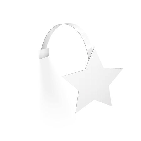 wobbler: Blank Wobbler with Transparent Strip Isolated on a White Background