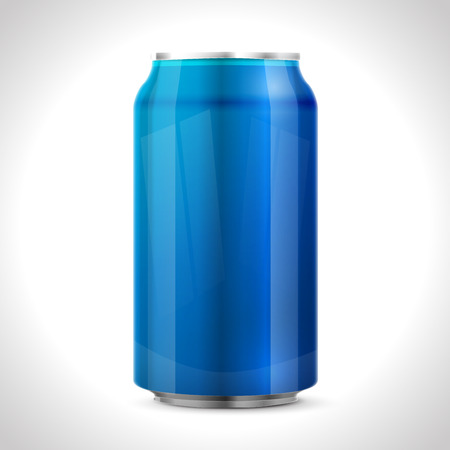 fizzy: Blue aluminum can