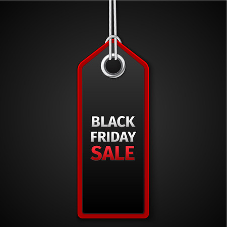 Black Friday sales tag. EPS 10 vector Illustration