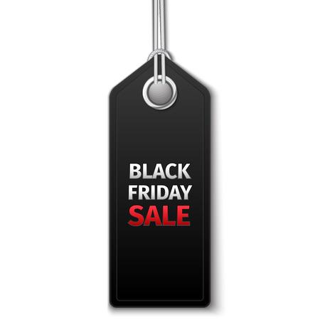 Black Friday sales tag. EPS 10 vector Illustration