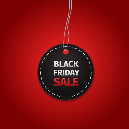 Black Friday verkoop tag. EPS-10 vector