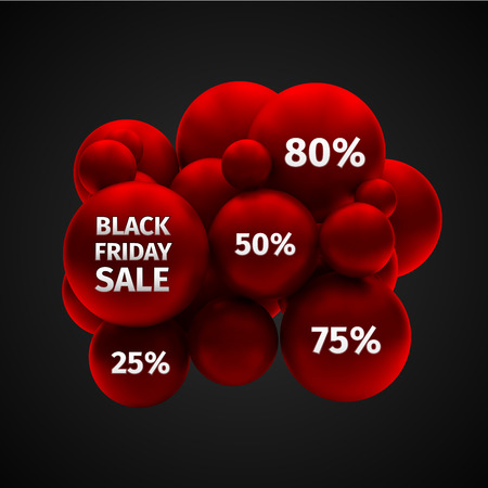 Black Friday Sale Abstract Vector Illustration Vector