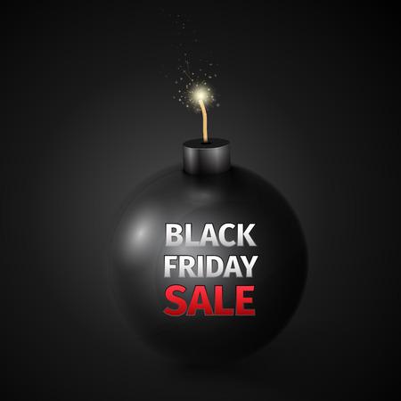 bomb price: Black Friday Sale Abstract Vector Illustration Illustration