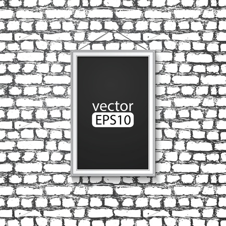 blank paper frame on  wall Vector