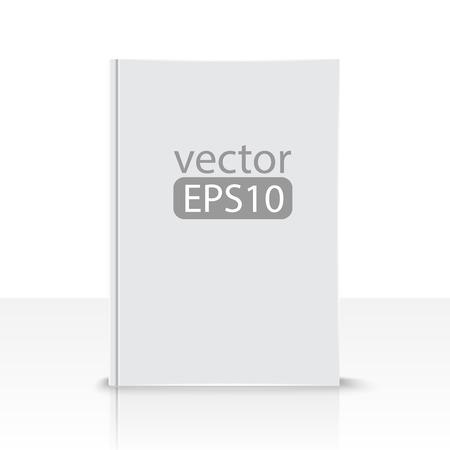 vooraanzicht van blanco boek op witte achtergrond