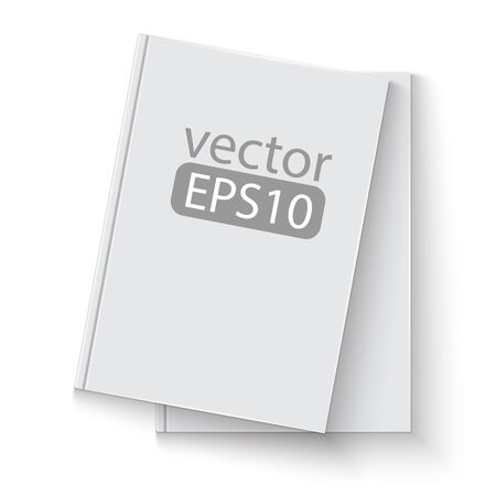 hard cover: Stack of blank book template. on white background with soft shadows. Ready for your design.