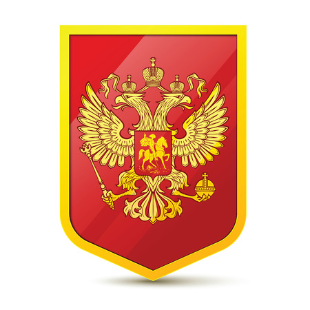 white coat: Coat of Arms of the Russian Federation