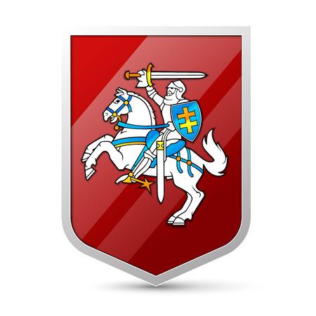 Wapen van Litouwen Stock Illustratie