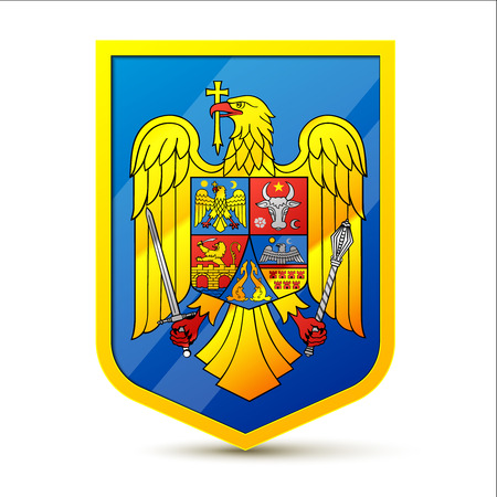 governmental: Escudo de armas de Rumania Vectores